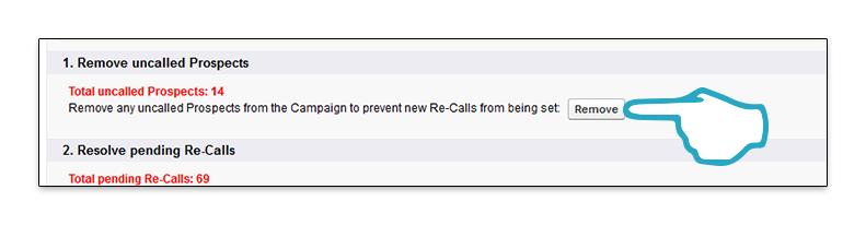Retire Campaign Remove uncalled click