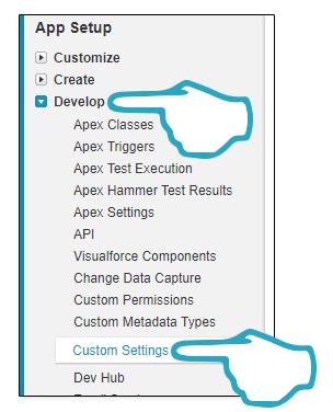 Develop Custom Settings
