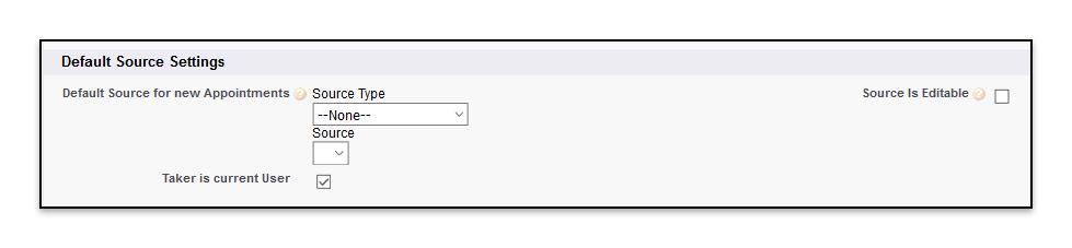 Default Source Settings