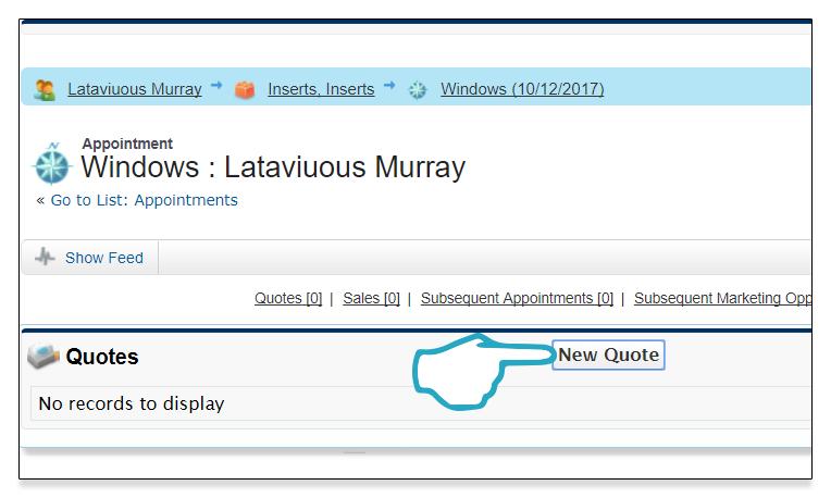 New Quote Click Desktop