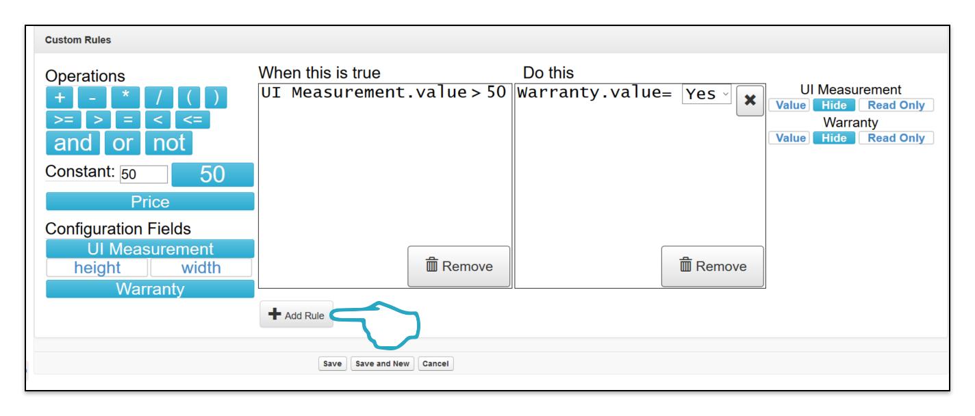 Add Custom Rule Add additional custom rule