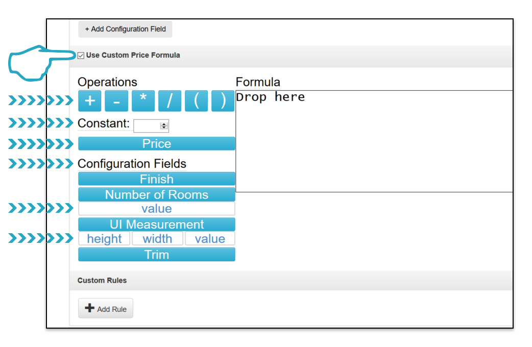 Use Custom Price Formula Click