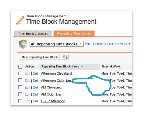 TIme Block Click