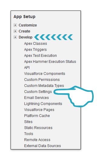 Develop Custom Settings Click