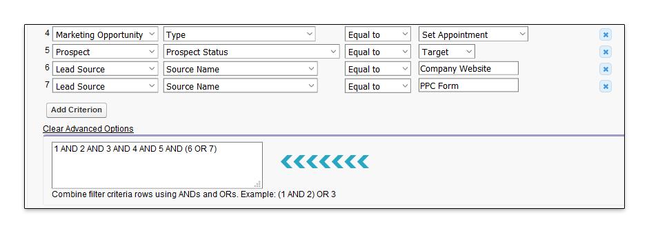 ADV Filter Criteria Point