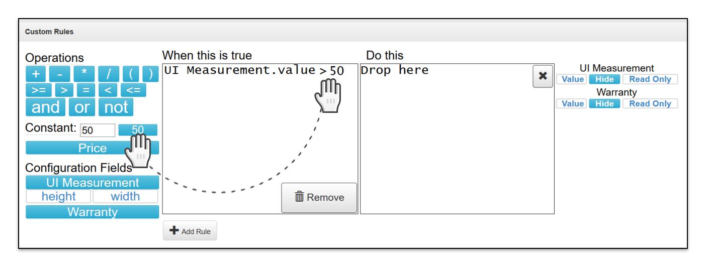 Add Custom Rule constant drop