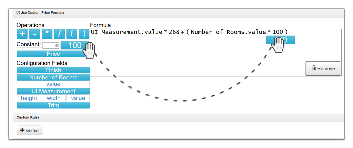 Custom Price Formula build formula example 2