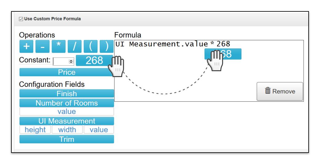 Custom Price Formula build formula example