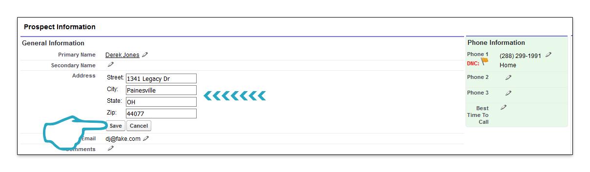 Inline Edit Save click