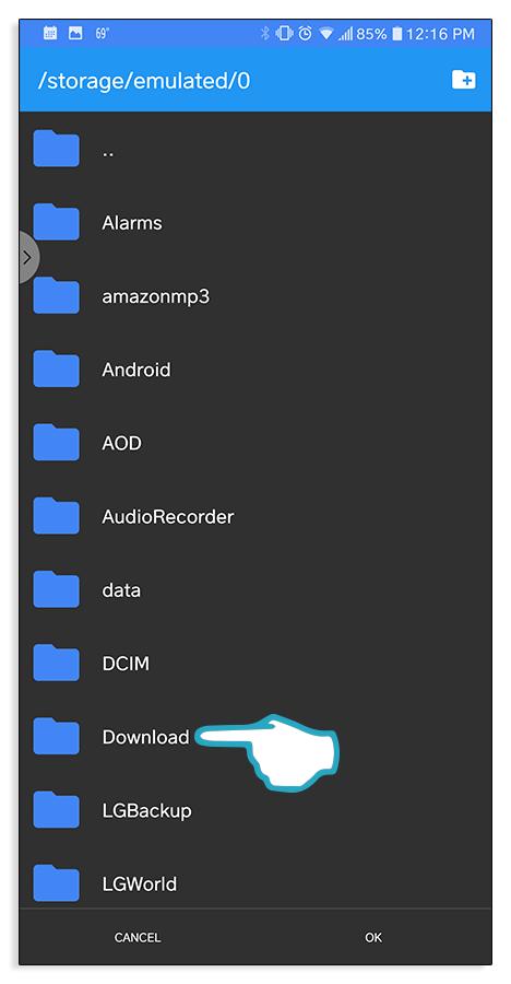 File explorer folder click