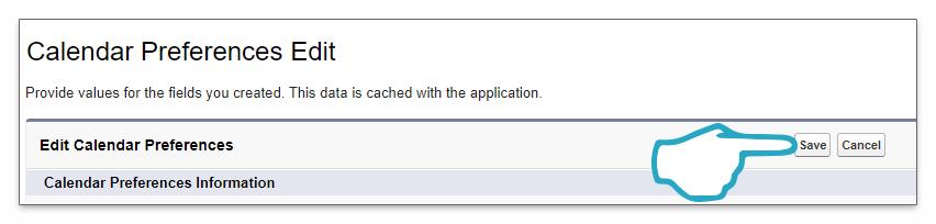 Custom Setting Save Click