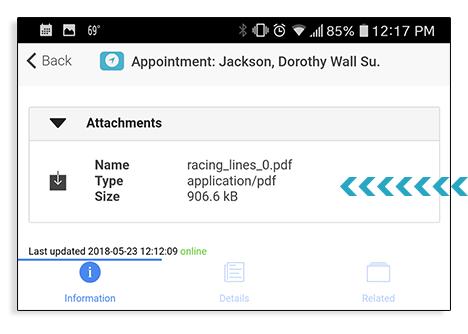 file attachment point